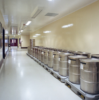 Example of a Hygienic Wall Coatings for Materials Storage and Process Areas