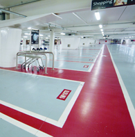 Example of a Wal Coatings in Car Parks for Chemical Reistance & Light Reflectance